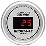 Auto Meter 6559 Ultra-Lite Digital 2-1/16'' 30 In Hg.-Vac./30 PSI Digital Vacuum/Boost Gauge
