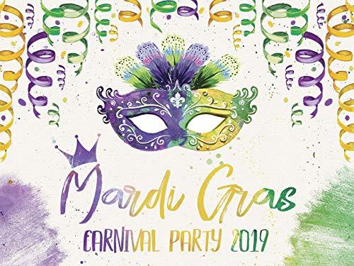 Mardi Gras 2019 Party Banner, Masquerade Party Backdrop, Mardi Gras Party Ideas, Fat Tuesday Decorations, Masquerade Banner Decor, Party Poster, Handmade Party Photo 24x36, 48x24, 48x36