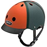 Nutcase Trucker Orange Matte Street Helmet, Small