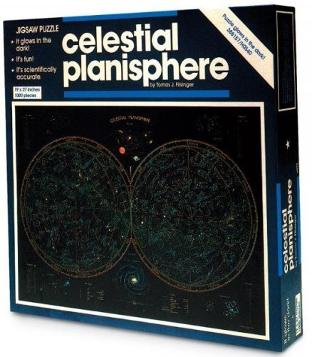 Celestial Planisphere Glow in The Dark Jigsaw Puzzle 1000 pieces 19x27 Tomas J. Filsinger by Great American Puzzle Factory