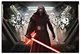Star Wars Episode 7 The Force Awakens Kylo Ren & Stormtroopers Poster Satin Matt Laminated - 91.5 x 61cms (36 x 24 Inches)