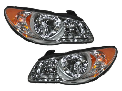 Hyundai Elantra 4-Door Sedan New Headlights Set Headlamps (Pair Hyundai Elantra Headlight)