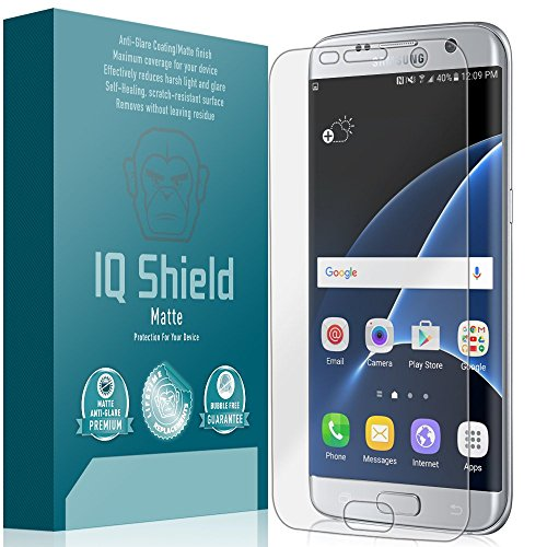 Galaxy S7 Edge Screen Protector, IQ Shield Matte Full Coverage Anti-Glare Screen Protector for Galaxy S7 Edge Bubble-Free Film - with