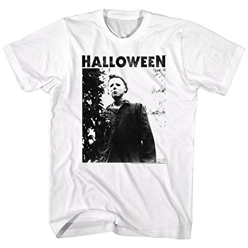 American Classics Unisex-Adults Big and Tall Halloween The Movie Watching Short Sleeve T-Shirt, White, X-Large -