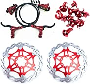 AKANTOR Zoom Hydraulic Disc Brakes Mountain Bike Sets MTB Front & Rear Set with Floating Disc Rotor 160mm