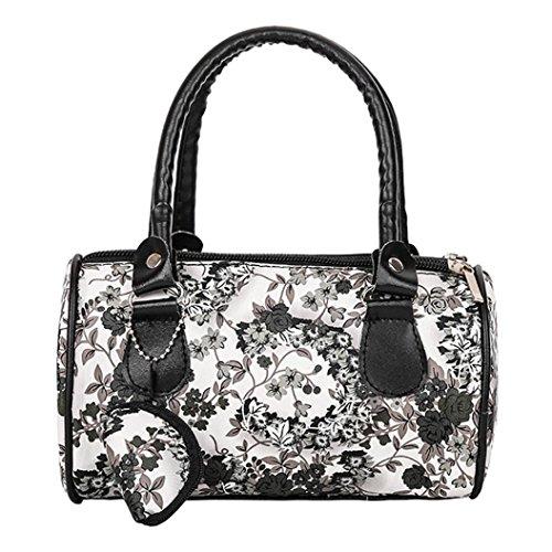 Casual Ladies Brown Embroidered Handbag Handbag Women Fashion Bag Shoulder Purse Tote Women Black rwRUzPr