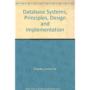 Database Systems: Principles Design and Implementation