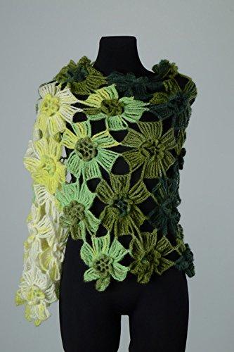 - Homemade Festive Crochet Angora And Wool Women's Shawl