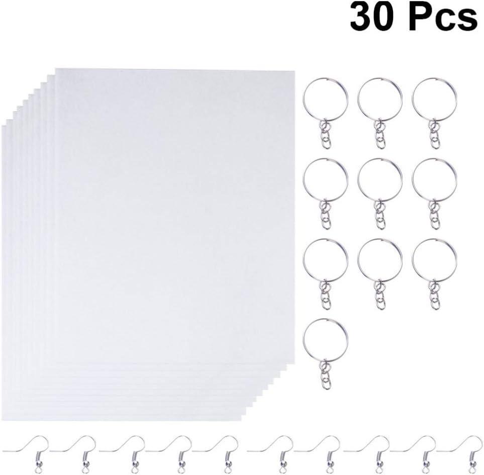 Healifty Film thermor/étractable Film thermor/étractable envelopp/é de Feuilles de Film r/étractables peintes /à la Main avec 10 Crochets doreille et 10pcs Trousseau 10pcs