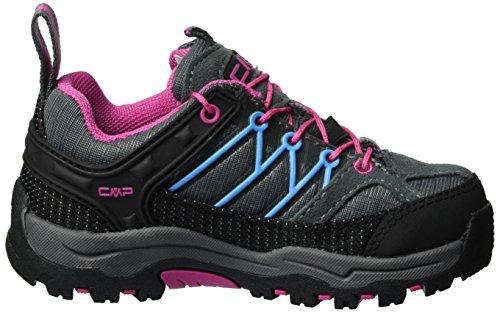C.P.M. Rigel, Zapatos de Low Rise Senderismo Unisex Niños Gris (Grey-fuxia-acquario)