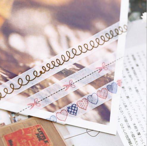 Ensemble de 7 Motif Multicolor Washi dentelle Glitter auto-adh/ésif autocollant dentelle Ruban pour bricolage Artisanat et d/écoration