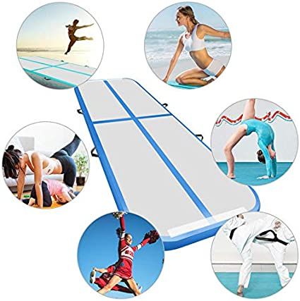 Details about  /Airtrack Air Track Floor Inflatable Gymnastics Tumbling Mat GYM w// Pump Blue USA