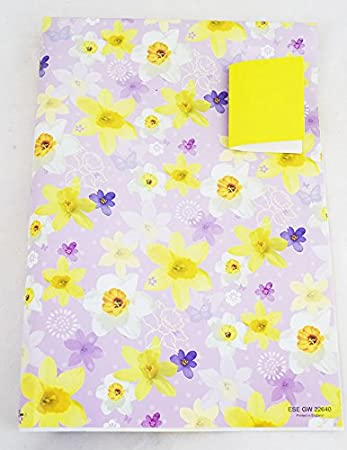 Floral easter gift wrapping paper sheets tag present packaging floral easter gift wrapping paper sheets tag present packaging arts and crafts negle Image collections