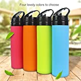 Collapsible Water Bottle, YUANFENG 20oz BPA-Free Leak-Proof Lightweight Silicone Sports Travel Camping Water Bottles