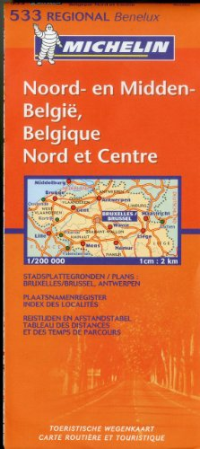 Michelin Map Belgium: North & Central 533 (Maps/Regional (Michelin))