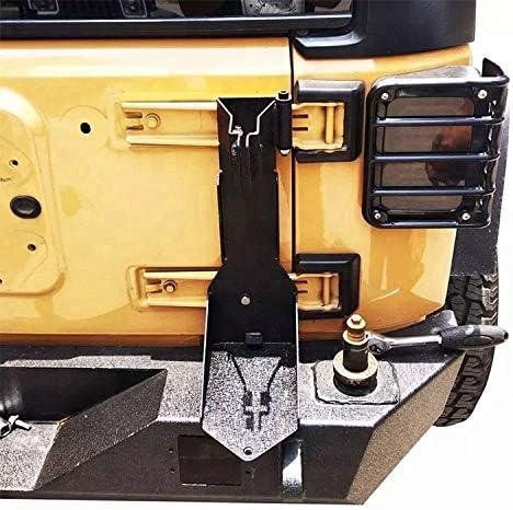 7BLACKSMITHS Textured Rear Jack Mount Bracket Tailgate Off-Road for Jeep Wrangler JK 2007-2018 Heavy Duty