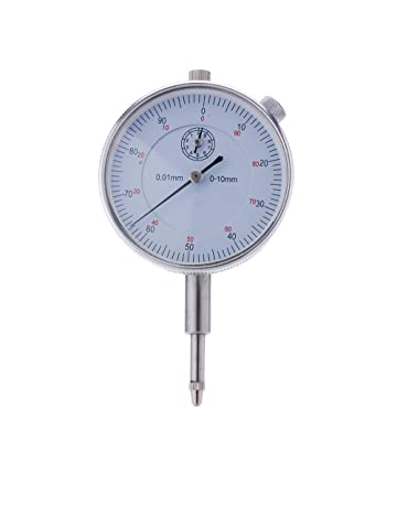 KKmoon Herramienta de precisión 0.01mm Exactitud Instrumento de Medición del dial redondo Indicador Medidor Vertical