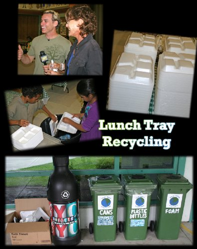 School Lunch Tray Recycling by Curiosity Quest Goes Green