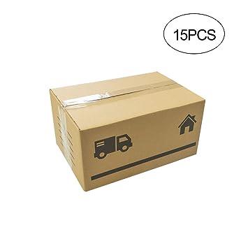 Cajas de Cartón Multiusos Pack de 15 Tamaño 300 x 200 x 150 ...