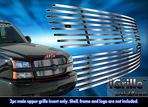 Stainless Steel eGrille Billet Grille Grill For 2003-05 Chevy Silverado 1500/ 03-04 2500