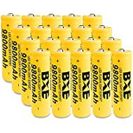 18650 High-Capacity 9800mAh Li-ion Rechargeable Battery 3.7V Batteries 18mmX65mm (20-Pack) for Flashlight
