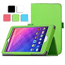 Acer Iconia One 7 B1-780 case, KuGi ® Acer Iconia One 7 B1-780- Multi-Angle Stand Slim-Book PU Leather Cover Case for Acer Iconia One 7 B1-780 tablet (Green)