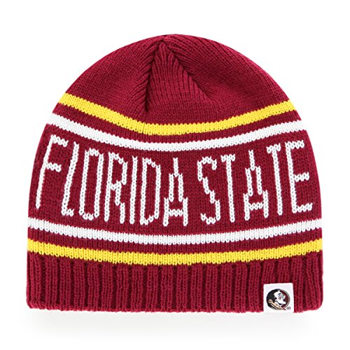 NCAA Florida State Seminoles Thorsby OTS Beanie Knit Cap, One Size, Cardinal