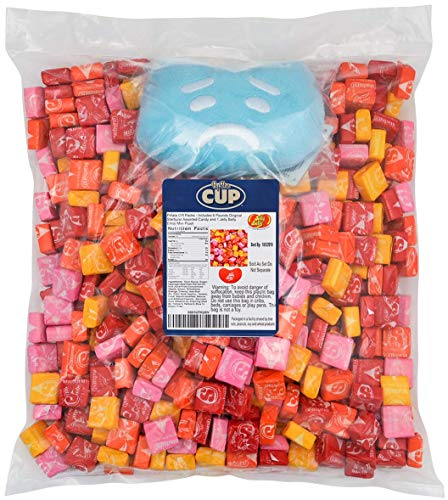 Starburst Bulk Candy Individually Wrapped 6 Pounds and 1 Jelly Belly Emoji Mini Plush - Flavors include: Cherry, Orange, Strawberry, Lemon