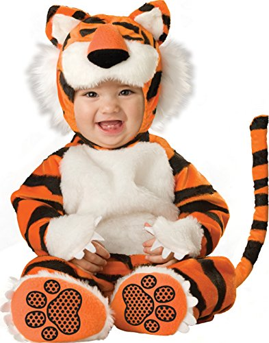 InCharacter Costumes Baby's Tiger Deluxe Costume, Orange/Black/White, Medium]()