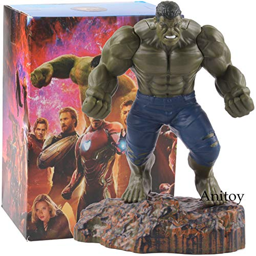 Hulk -Type1293 Avengers Infinity War Action Figure Iron Man Thor Doctor Strange Hulk Statue PVC Marvel Heroes Toys Collectible Model Toy - Infinity War Action Figures - Avengers Dolls for Boys