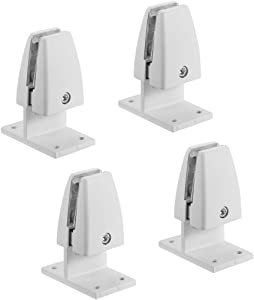 uxcell Partition Bracket - Office Desk Partition Clip Clamp Holder Screen Support T Shape for 10-15mm Thickness, 4 Pcs