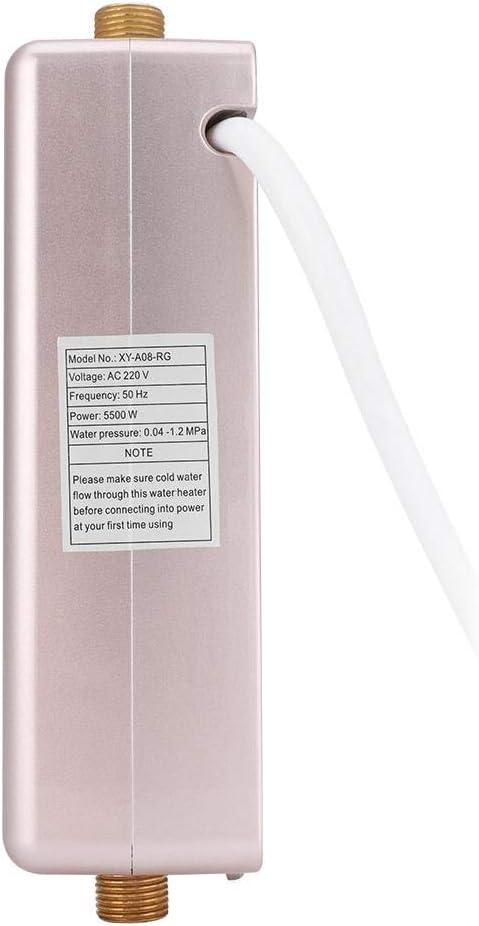 5500 Watt Elektrische Durchlauferhitzer Schnelle Heizung Tankless Dusche Warmwasserbereiter f/ür Badezimmer K/üche Waschen 220 V schwarz Mini-Durchlauferhitzer