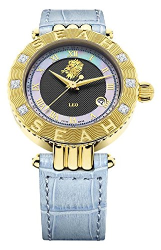 Seah-Empyrean-Zodiac-sign-Leo-42mm-Yellow-Gold-Tone-Swiss-Made-Automatic-12-carat-Diamond-watch