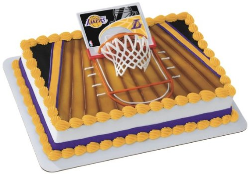 NBA Slam Dunk LA Lakers Cake (Lakers Party Decorations)