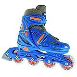 Crazy Skates Adjustable Inline Skates | Adjust to fit 4 Shoe Sizes | Blue - Model 148 | Medium - M2-5/L3-6