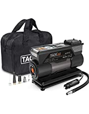 TACKLIFE ACP1C Digital Tyre Inflator, DC 12V 150PSI Air Compressor Pump, 40L/Min Tyre Pump with Gauge, 4 Nozzle Adapters, Extra Fuse, 3 LED Light Modes, Backlight LCD Screen