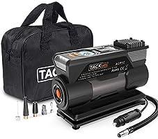 TACKLIFE ACP1C Compresor Aire Coche, Inflador Digital 150PSI, Compresor de Aire 12V, Bomba Electrico con Manómetro, Pantalla LCD, 3 Modos de luz LED, Fusible Extra, 4 Adaptadores de Boquilla