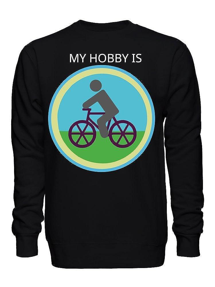 graphke My Hobby is Cycling Unisex Crew Neck Sweatshirt
