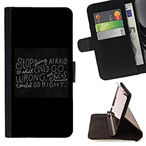 Jordan Colourful Shop - blackboard black motivational inspiring quote For Apple Iphone 5C - Leather Case Absorci???¡¯???€????€???????