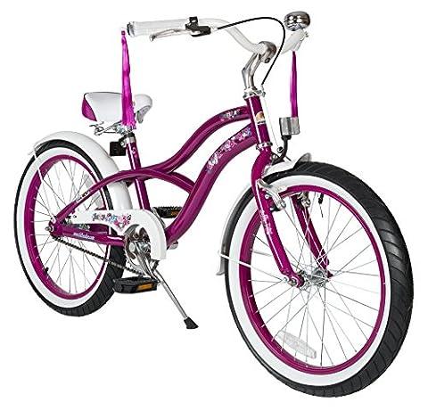 Bikestar 20 Inch (50.8cm) Kids Children Bike Bicycle - Cruiser - Lilac / Purple