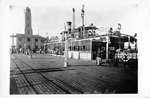 - Port Said Egypt harbour police station and ferry boat real photo pc Z19997