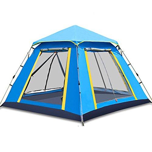 アルプス割り当てるシートQFFL zhangpeng テント自動日保護雨屋外テント3-4人テントファミリーキャンプキャンプテント2色オプション210 * 210 * 165センチメートル トンネルテント ( 色 : 青 , サイズ さいず : Single layer )
