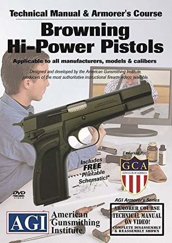 (American Gunsmithing Institute Armorer's Course Video on DVD for Browning HI-Power Pistols - Technical Instructions for Disassembly, Cleaning, Reassembly and)