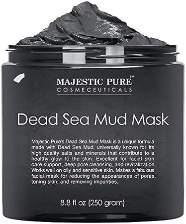 Majestic puro lodo del Mar Muerto Mascarilla 8.8 Oz: 100% Fórmula natural para asegurar el producto
