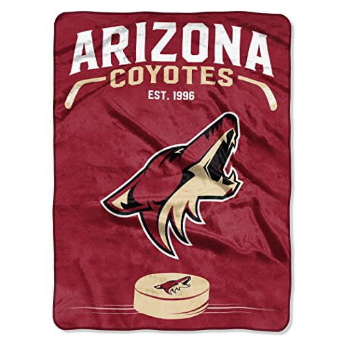 (The Northwest Company Officially Licensed NHL Arizona Coyotes Inspired Plush Raschel Throw Blanket, 60