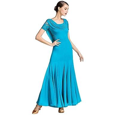 d2ddcedfc6b16 YTS Four Seasons Blue Modern Dance Clothes, Dresses and Long Skirts (Color  : Blue