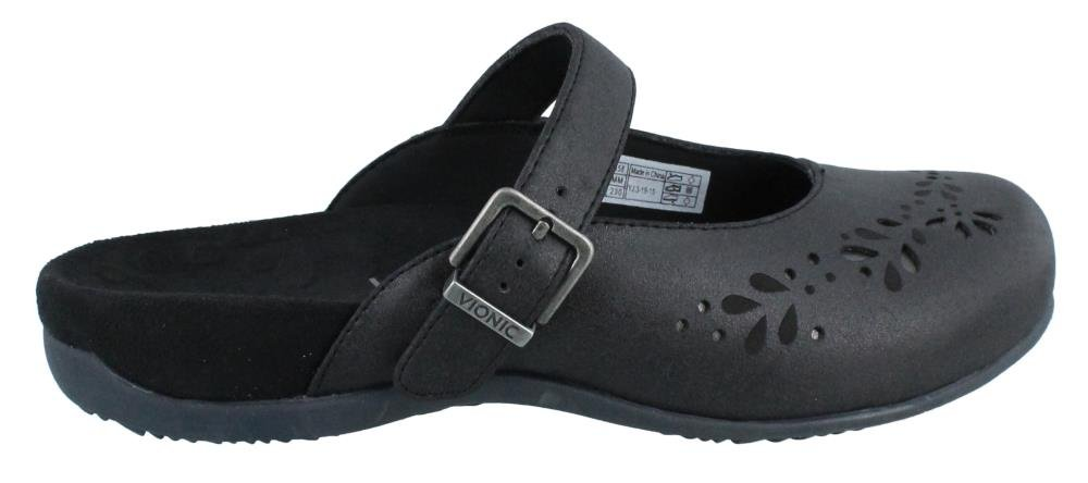 Vionic With Orthaheel Technology Rest Midway Womens Mule Mary Jane Black Size 10