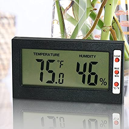 Amazon.com: Easy To Read Digital Indoor Thermometer and Hygrometer ...