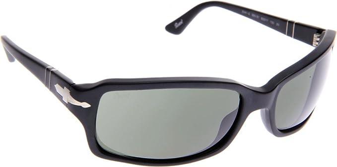1c75115897 Image Unavailable. Image not available for. Color  Persol 3041 900 31 Matte  Black 3041 Wayfarer Sunglasses ...