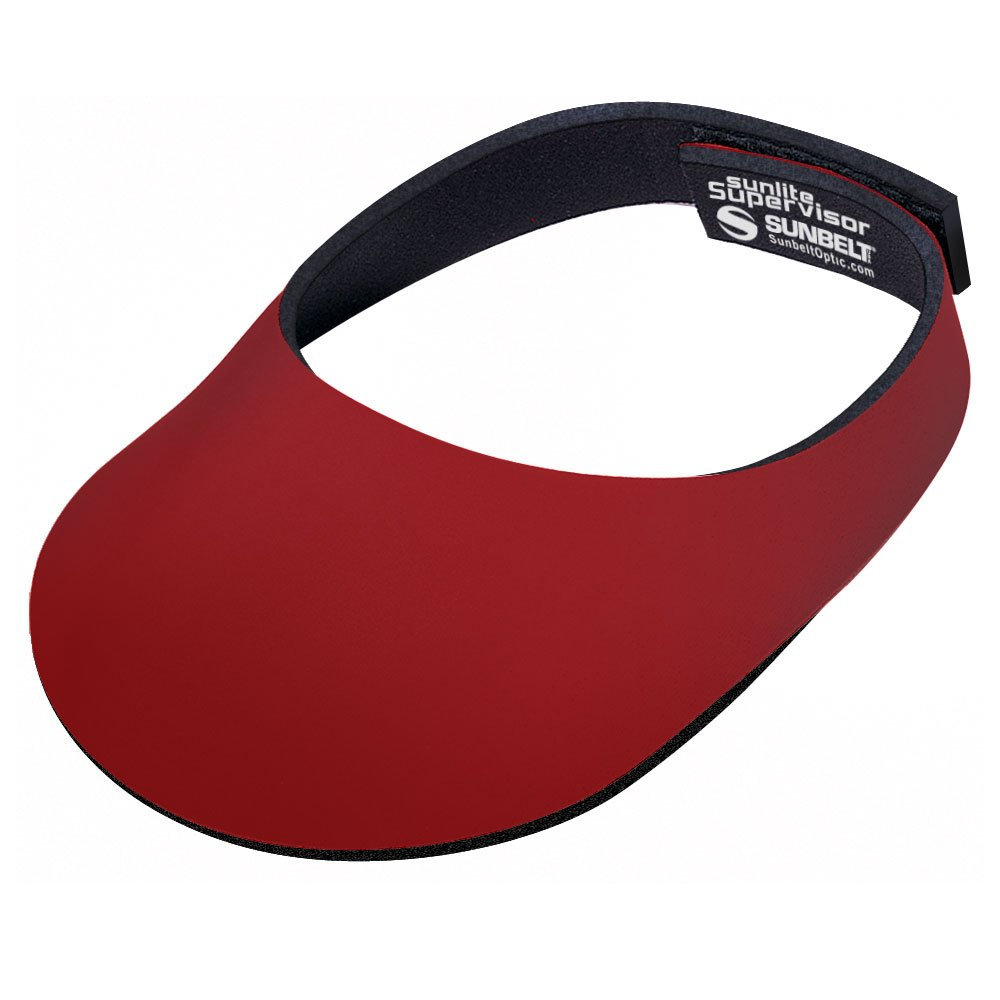 Super Sunlite Visor -5mm Thickness - Adjustable fit - Sun Hat for Golf, Tennis, Running (Red)